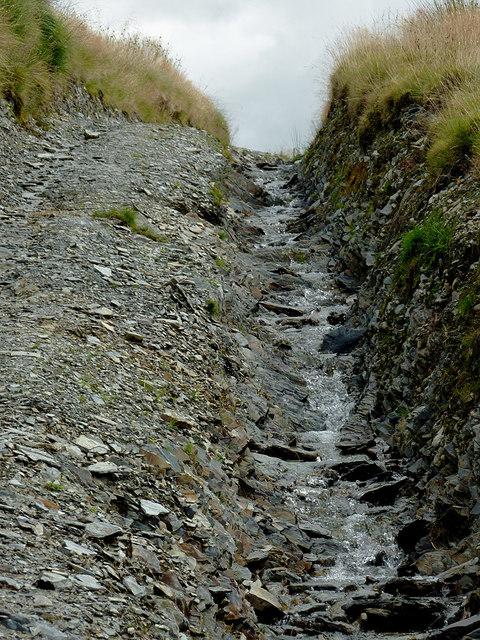 Eroded byway to Soar-y-Mynydd, Ceredigion
