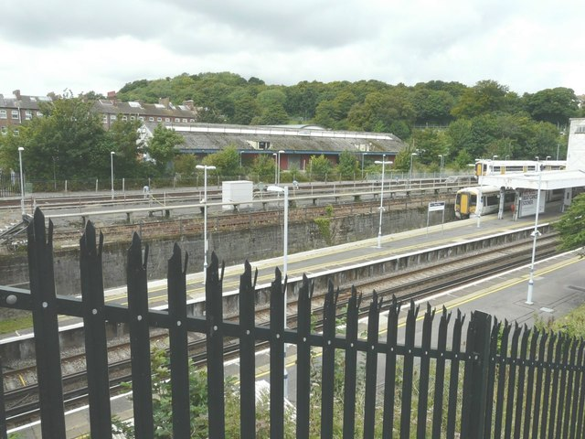 Looking west-northwest over Dover Priory Station