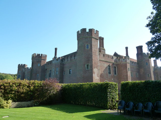 Herstmonceux Castle from the NW