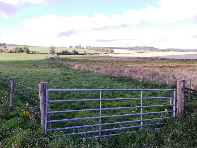 A gated entrance to a field near South Footie
