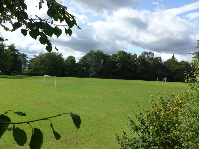 Looking from Sauchie Road into a recreation ground