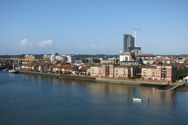 Ocean Village from Itchen Bridge