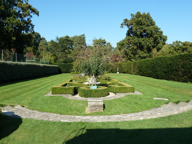 Formal gardens at Herstmonceux Castle