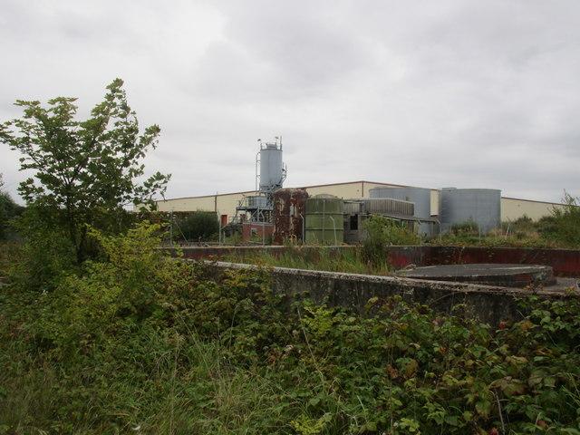 Disused storage tanks off Gibson Lane