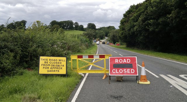 The A631 is closed today