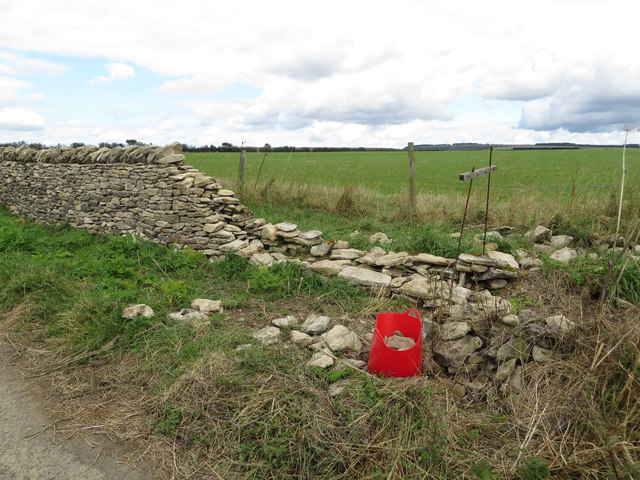 Drystone wall repairs