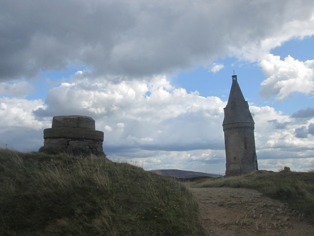 The towers on Hartshead Pike