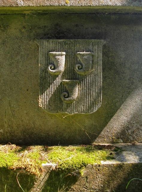 Heraldic device, old St Nicholas' churchyard, Taplow