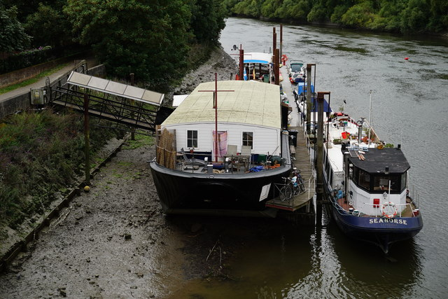 Houseboats on the River Thames
