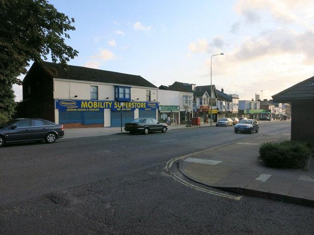 Shops on Portsmouth Road, Woolston