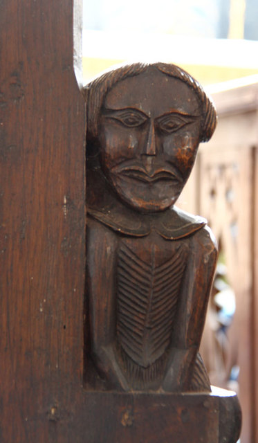 St Martin of Tours, Houghton - Bench end