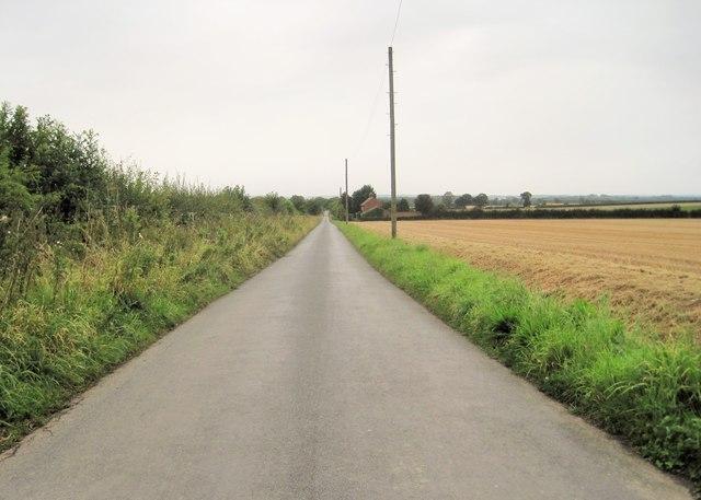 Moor Lane towards Catterton