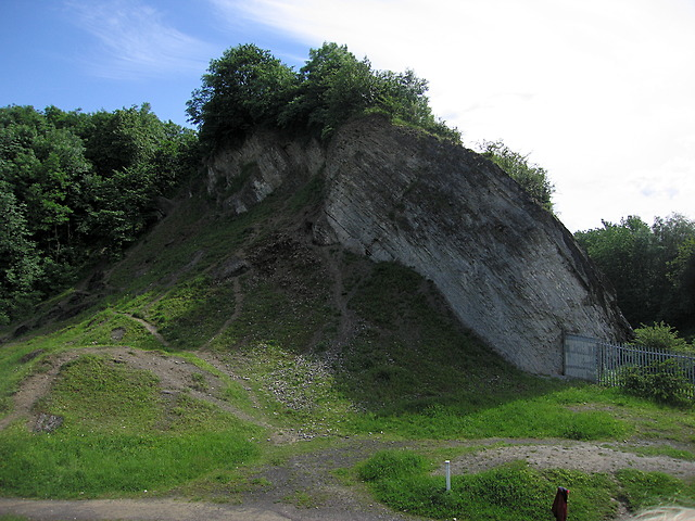 Breach in the Nodular Limestone Member, Wren's Nest