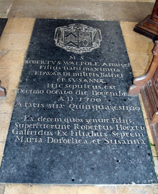 St Martin of Tours, Houghton - Ledger slab