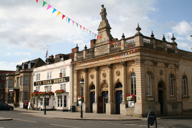 Devizes:  The Corn Exchange and the 'Bear'