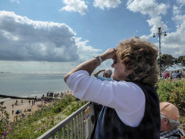 Watching the Air Display, Clacton, Essex