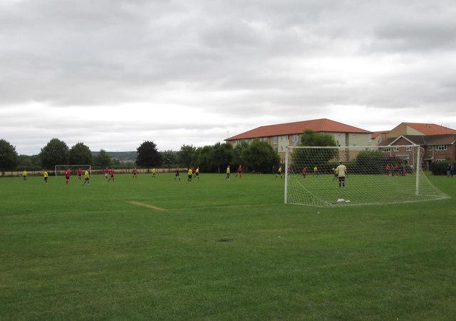 Football  match  at  Norton  Recreation  Ground