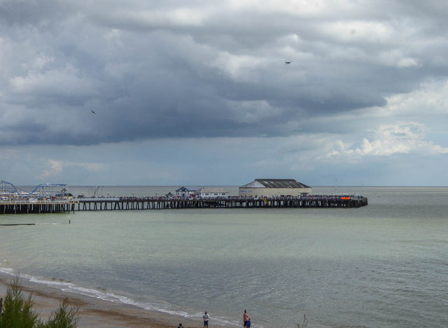 View of the Pier from Cliff Top, Clacton, Essex