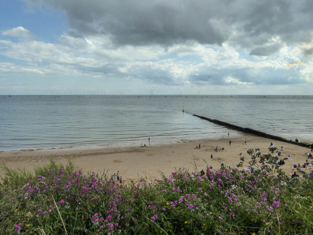 Beach from Cliff Top, Clacton, Essex