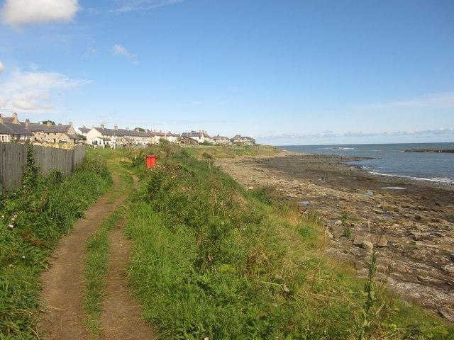 The Northumberland Coast Path entering Craster