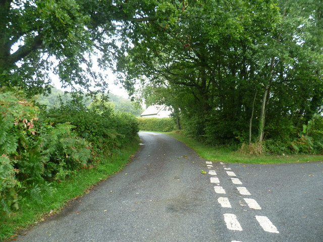 The end of Halden Lane