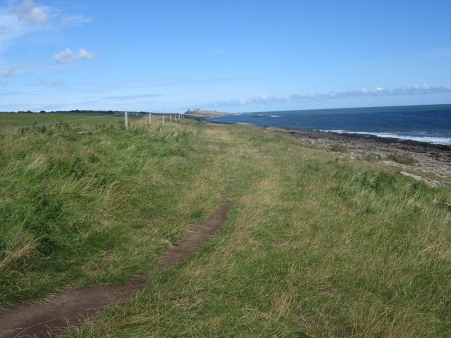 Coastal footpath at Cullernose Point