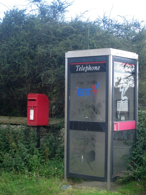 Telephone and post boxes in Howick