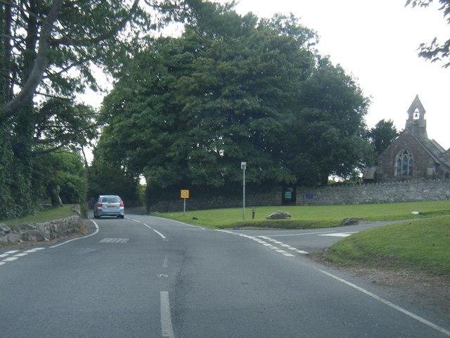 A4118 at Penmaen Church