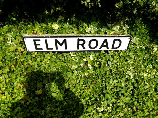 Elm Road sign