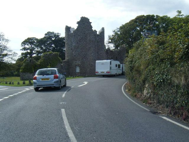 A4118 at Penrice Castle folly gatehouse