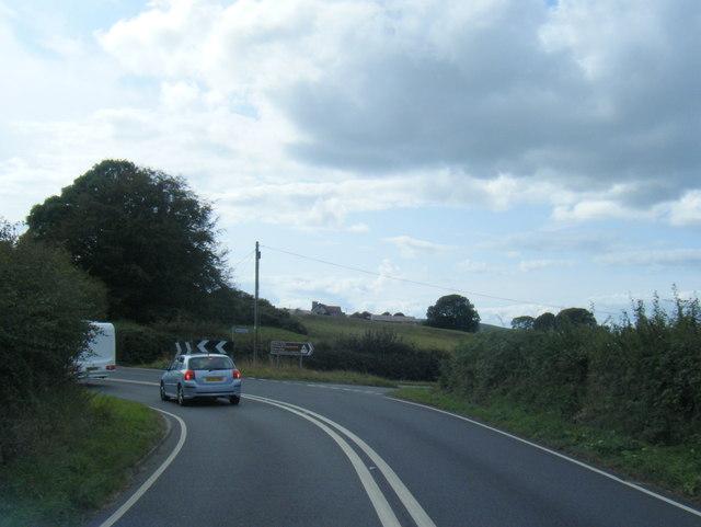 A4118 at Llanddewi lane junction