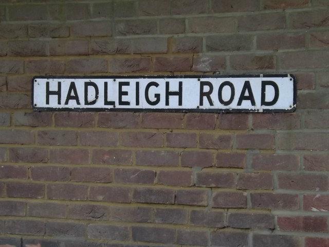 Hadleigh Road sign