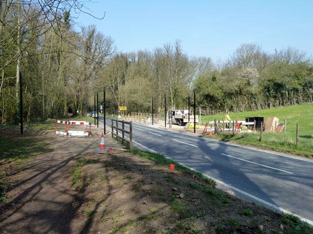 Bridleway crossing under construction