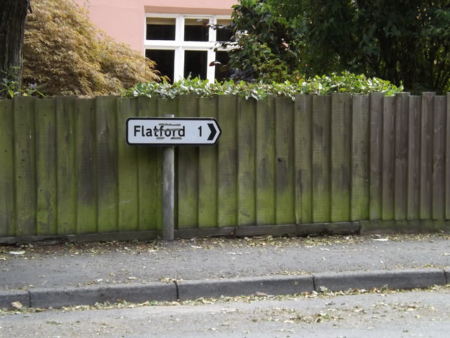 Flatford roadsign