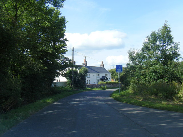Lane and cottage near Burry