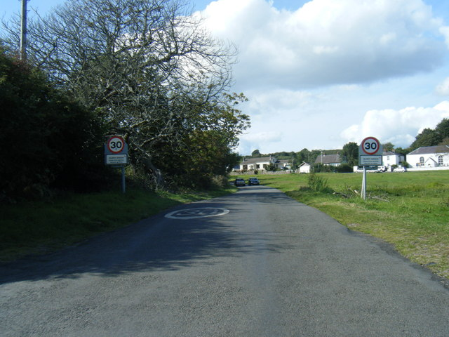 Burry Green seen from village boundary