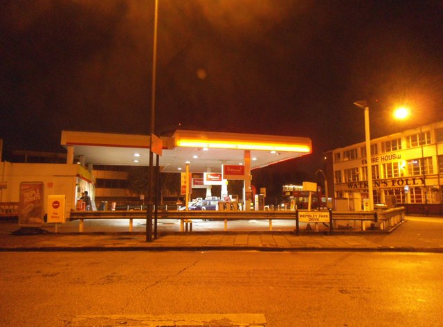 The Shell petrol station on Wembley Park Drive
