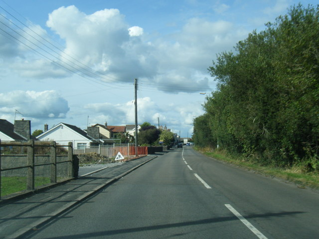 New Road looking north at Crofty
