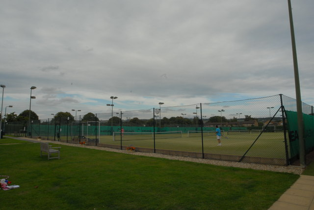 Tennis courts at East Glos Club