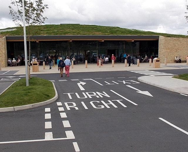 Entrance to the building at Gloucester Services
