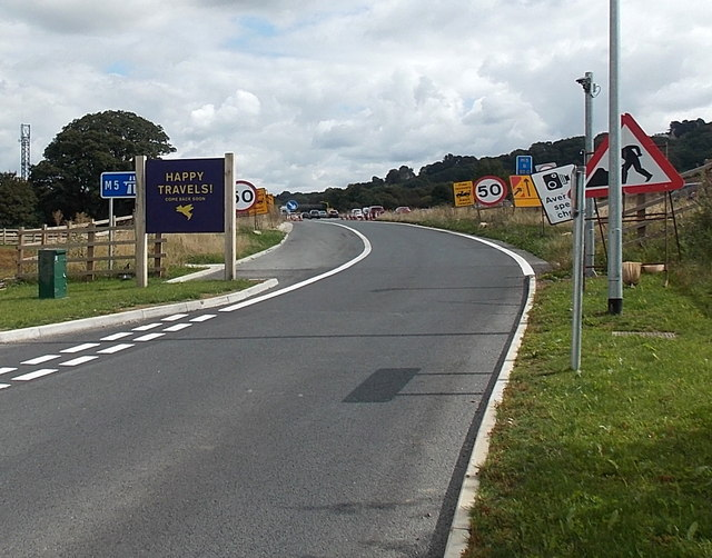 Exit road from Gloucester Services