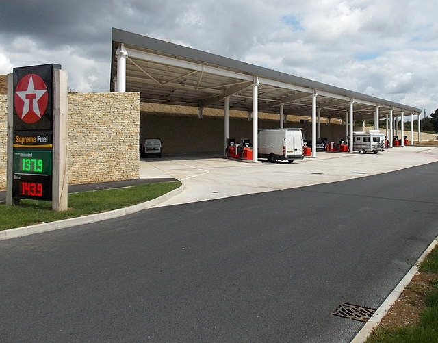 Filling station at Gloucester Services