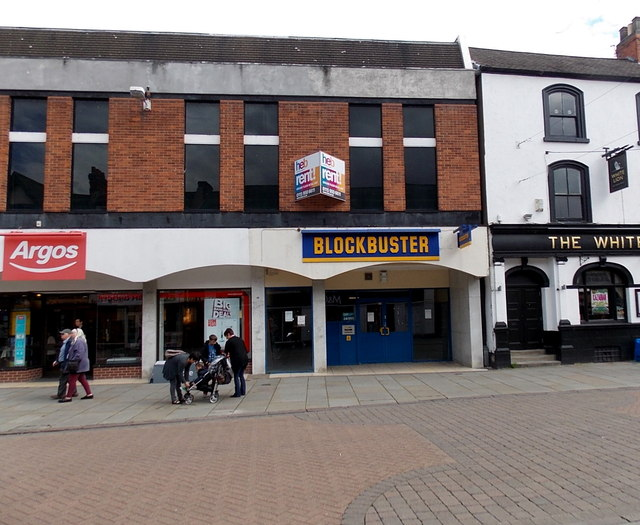 Vacant former Blockbuster store in  Melton Mowbray