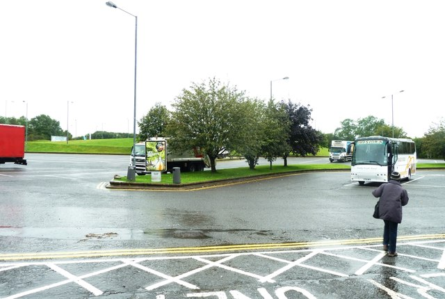 Coach Park at Cardiff West Services