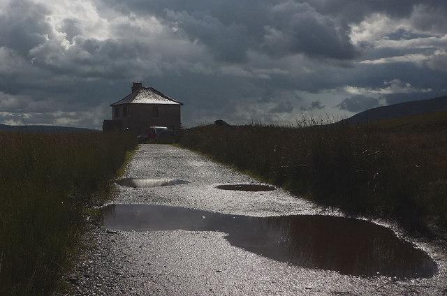The rain stops at Blea Moor