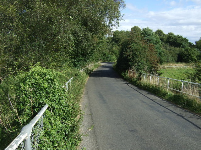 Rural road towards Elton at Elton Bridge