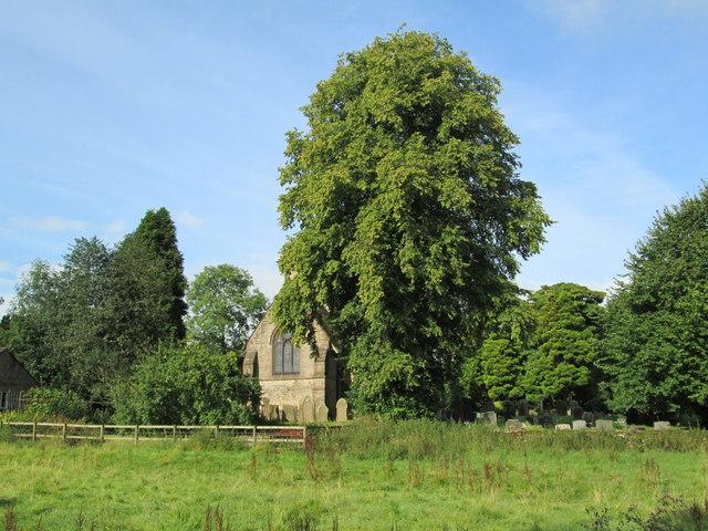 St Matthew's Church, Meerbrook, across a field