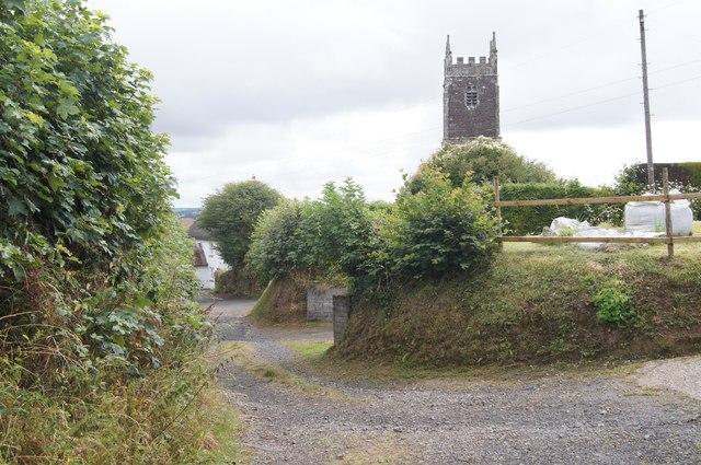 View down Cott Lane