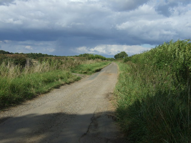 Rural road towards Water Newton
