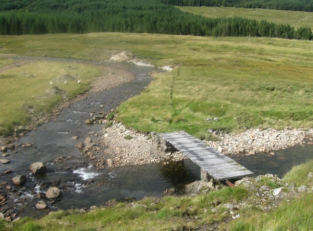 Footbridge over the River Cononish
